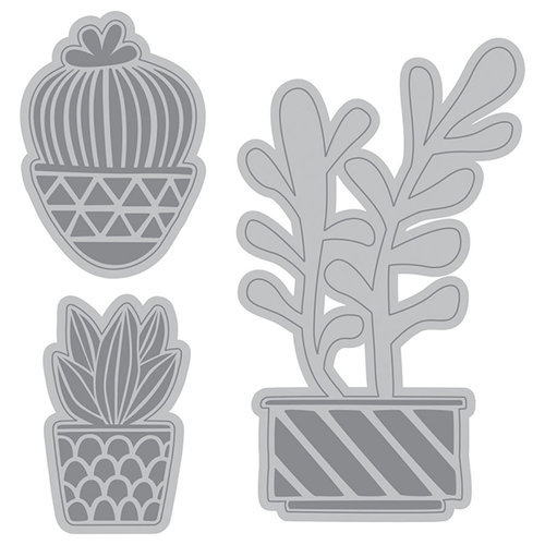 Cut and Emboss Cactus Succulents