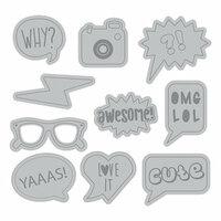 Momenta - Cut and Emboss Template - Word Bubble Icons