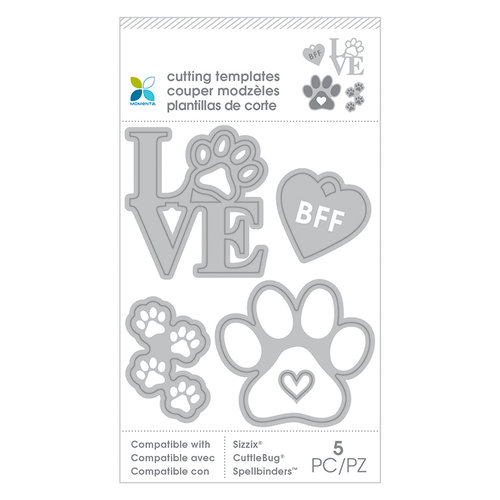 Momenta - Cut and Emboss Template - Paw Print Love