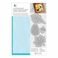 Momenta - Cut and Emboss Template - Leaves, Acorn, Wood Grain