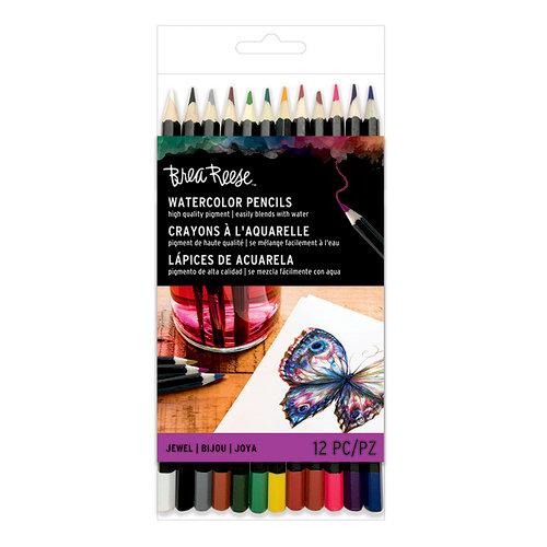 Brea Reese - Watercolor Pencils - Jewel - 12 Pack