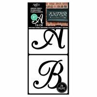 Art-C - Adhesive Stencils - Script Font - 3 Inch