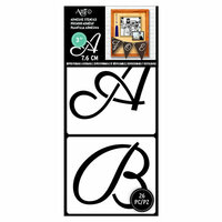 Art-C - Adhesive Stencils - Cursive Font - 3 Inch
