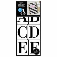 Art-C - Adhesive Stencils - Modern Serif Font - 2 Inch