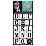 Art-C - Adhesive Stencils - Classic Serif Font - 1 Inch