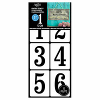 Art-C - Adhesive Stencils - Serif Number Font - 2 Inch