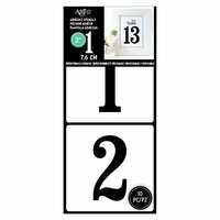 Art-C - Adhesive Stencils - Serif Number Font - 3 Inch