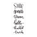 Momenta - Clear Acrylic Stamps - Smile, Sparkle