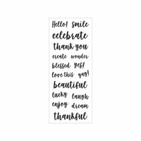 Momenta - Clear Acrylic Stamps - Hello, Smile, Celebrate