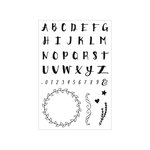 Momenta - Clear Acrylic Stamps - Alphabet, Wreath
