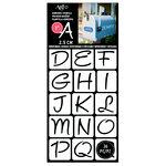 Art-C - Adhesive Stencils - Modern Fun Font - 1 Inch
