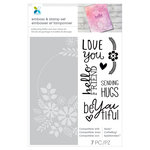 Momenta - Stamp and Emboss - Love You, Hello Friend, Sending Hugs