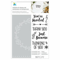 Momenta - Stamp and Emboss - You're Invited, Thank You, Just Because