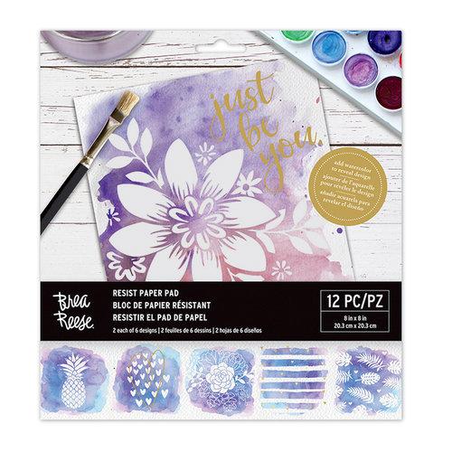 Brea Reese - 8 x 8 Resist Paper Pad - Tropical Love