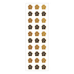 Momenta - Wood Stickers with Foil Accents - Mini Heart Paw Print