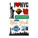 Momenta - Mixed Media Stickers - NYC, Taxi, Broadway, Love