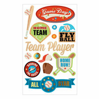 Momenta - Mixed Media Stickers - The Home Team, Fly Ball, Baseball