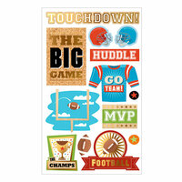 Momenta - Mixed Media Stickers - Touchdown, Go Team, Football
