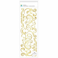 Momenta - Puffy Stickers - Flourishes - Gold