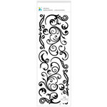 Momenta - Puffy Stickers - Flourishes - Black