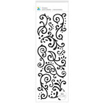 Momenta - Glitter Stickers - Flourishes - Black