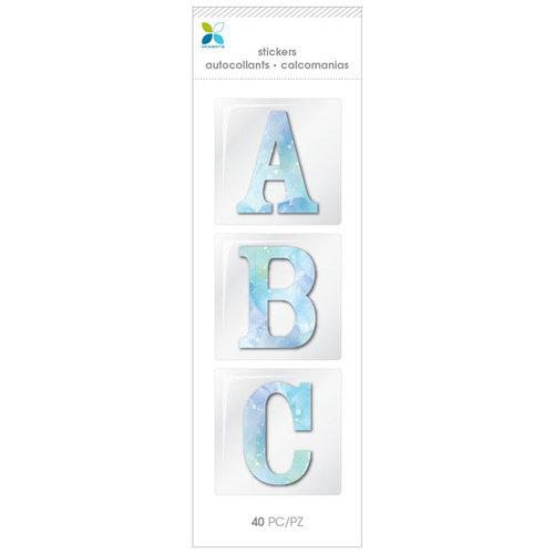 Momenta - Chipboard Stickers - Alphabet - Serif - Watercolor