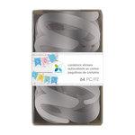 Momenta - Cardstock Stickers - Alphabet - Script - 4 Inches - Silver