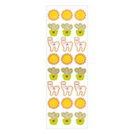 Momenta - Wood Stickers with Foil Accents - Mini Llama Cactus Sun