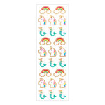 Momenta - Wood Stickers with Foil Accents - Mini Mermaid Unicorn Rainbow