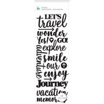 Momenta - Puffy Stickers - Let's Travel Wonder Explore - Black