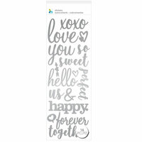 Momenta - Puffy Stickers - XOXO Love You Sweet - Silver