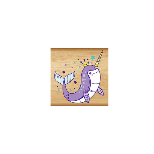 Momenta - Wood Mounted Stamps - Purple Narwhal