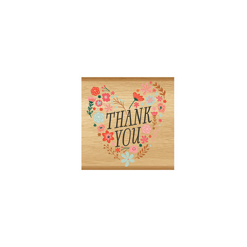 Momenta - Wood Mounted Stamps - Thank You Floral Heart