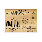 Momenta - Wood Mounted Stamps - Wanderlust, Compass, Wild and Free