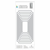 Momenta - Metal Die - 3.5 x 8.75 - Nested Borders Rectangles