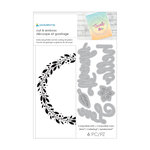 Momenta - Cut and Emboss Template - Floral Wreath