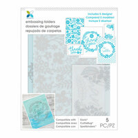 Momenta - Embossing Folders - Thank You Floral