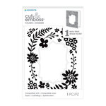 Momenta - Cut and Emboss Template - Scalloped Floral Wreath
