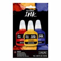 Brea Reese - Alcohol Ink - 3 Pack - Cadmium Red, Ultramarine Blue, Cadmium Yellow