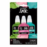 Brea Reese - Alcohol Ink - 3 Pack - Kelly Green, Rose, Ocean Green