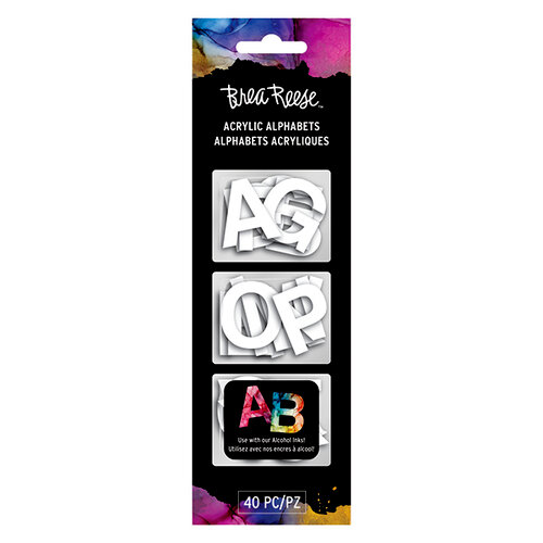 Brea Reese - Acrylic Alphabets - White - 1 Inch