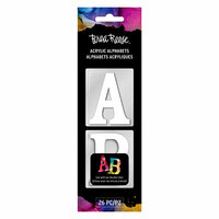Brea Reese - Acrylic Alphabets - White - 2 Inches