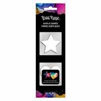 Brea Reese - Acrylic Shapes - White - Stars and Hearts