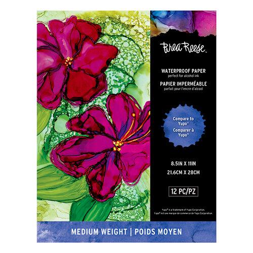 Brea Reese - Waterproof Paper Pad - 8.5 x 11 - Medium - 12 Pack