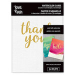 Brea Reese - Watercolor Cards with Foil Accents - Hello, Thank you