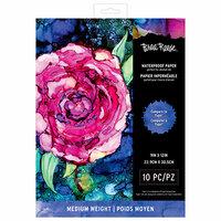 Brea Reese - Waterproof Paper - White - 9 x 12 - Medium - 10 Pack
