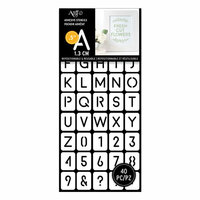 Art-C - Adhesive Stencils - Rounded Thin Font - 0.5 Inch