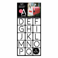 Art-C - Adhesive Stencils - Rounded Thin Font - 1 Inch