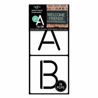 Art-C - Adhesive Stencils - Rounded Thin Font - 3 Inch