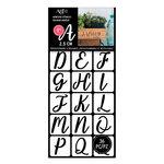 Art-C - Adhesive Stencils - Handwritten Script Font - 1 Inch